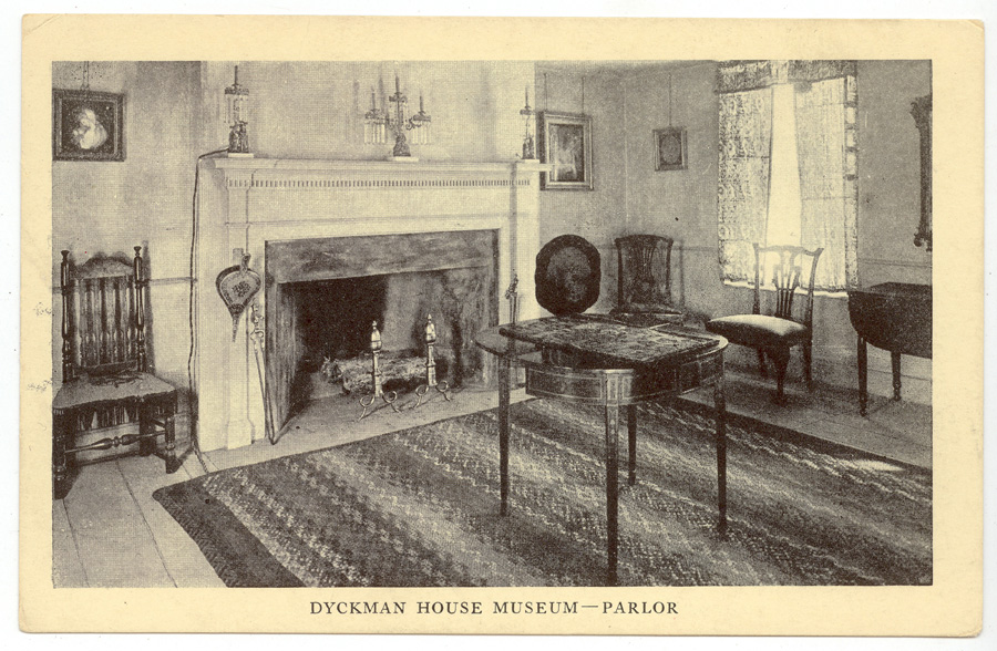DFM – Parlor Postcard c 1916 Collection of Dyckman Farmhouse Museum – Dyckma