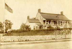 1916 view of the restored farmhouse.