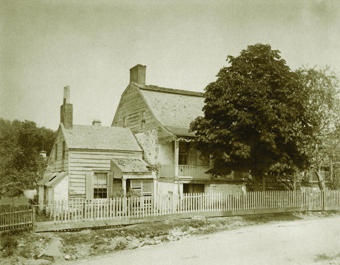 1870s Photograph of the Dyckman Farmhouse. The earliest known photograph of the farmhouse showing Broadway level with the farmhouse as it was before 1885. In 1885 Broadway was lowered 10-15 feet.