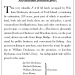 Text of the 1788 advertisement of the Dyckman property.