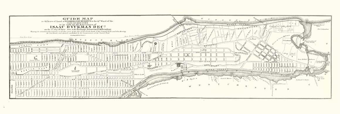 1870 Dyckman Auction Map