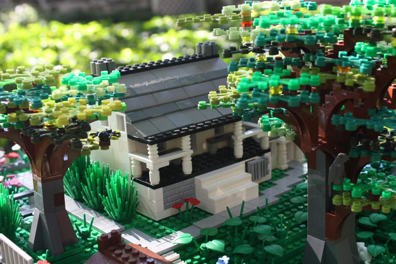 LEGO version of Dyckman Farmhouse