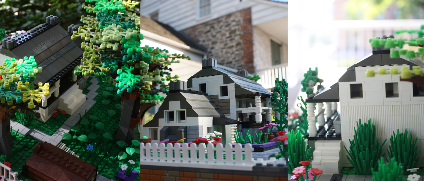 Dyckman Farmhouse in LEGO bricks